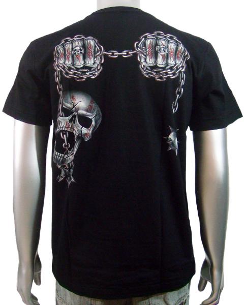 skeleton biker skulls t shirt t shirts mens tattoo. Black Bedroom Furniture Sets. Home Design Ideas