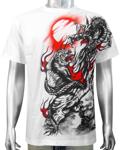 c354a9fcf640d Chinese Dragon Tiger T-shirt   T-Shirts   Mens   Tattoo Biker Rock