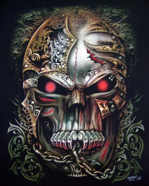 tattoo style skull t shirt t shirts mens tattoo biker rock. Black Bedroom Furniture Sets. Home Design Ideas