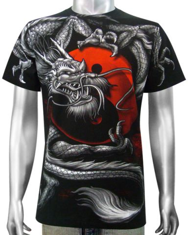 Asian Dragon Yin-Yang T-shirt: click to enlarge