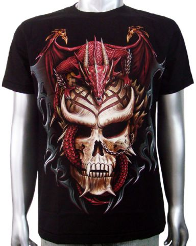 Chinese Dragon Skull T-shirt: click to enlarge