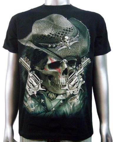 Cowboy Skull Handguns T-shirt: click to enlarge