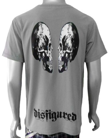 Disfigured 2 Skull Mens T-shirt: click to enlarge