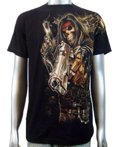 Skeleton Gangster Chopper T-shirt: click to enlarge