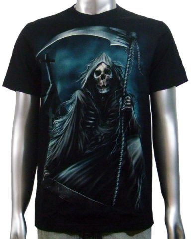 Screaming Grim Reaper T-shirt: click to enlarge