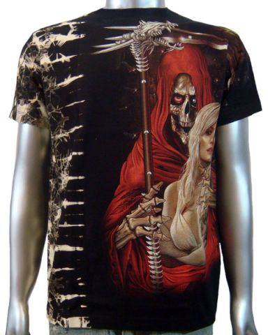 Grim Reaper Sexy Lady T-shirt: click to enlarge