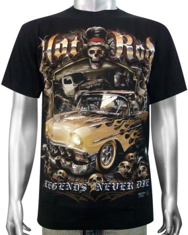 Hot Rod Street Race Car T-shirt: click to enlarge