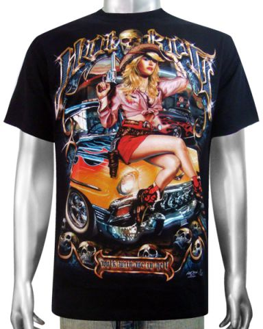 Hot Rod Sexy Girl T-shirt: click to enlarge