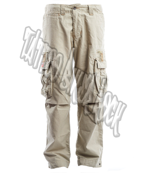 Molecule Mens Beige Combat Trousers: click to enlarge
