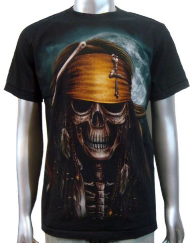 Pirate Jack Sparrow T-shirt: click to enlarge