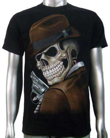 Skeleton Dick Tracy T-shirt: click to enlarge