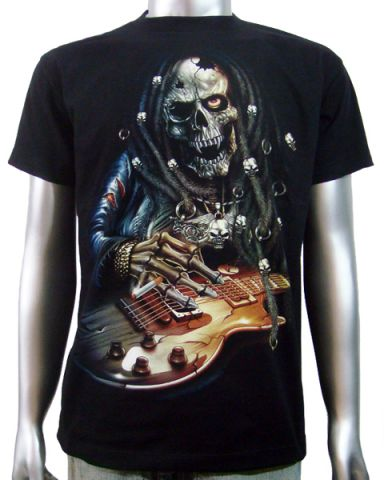 Rasta Guitar Player T-shirt: click to enlarge