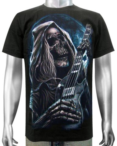 Grim Reaper Guitar T-shirt: click to enlarge