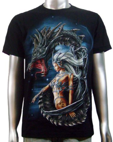 Dragon Sexy Tattoo Girl T-shirt: click to enlarge