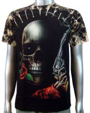 Skull Rose Handgun T-shirt