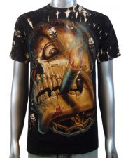 Smoking Vampire Skull T-shirt
